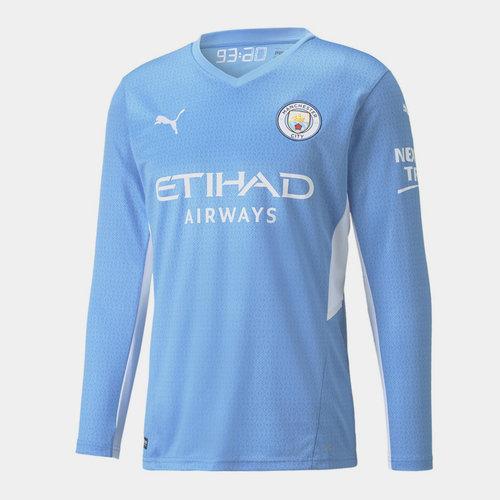 Manchester City Home Long Sleeve Home Shirt 2021 2022