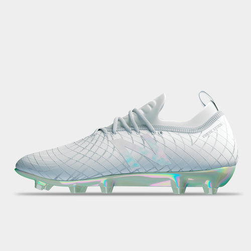 all white new balance football boots