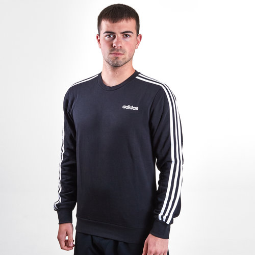 Essential 3 Stripe Crew French Terry Sweatshirt