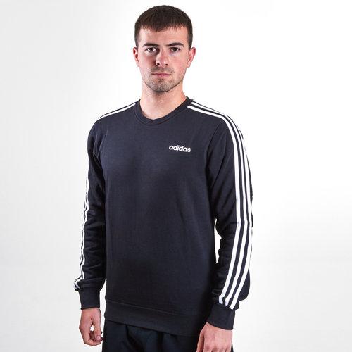Essential 3 Stripe Crew French Terry Sweatshirt
