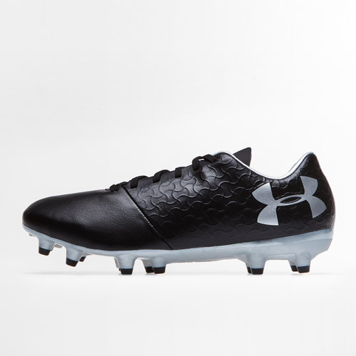 ad9c08379 Under Armour Magnetico Select Kids FG Football Boots. Black Metallic Silver