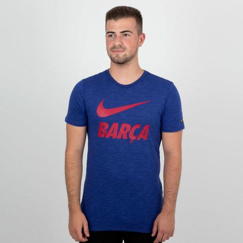 FC Barcelona 18/19 Dry Swoosh Football T-Shirt
