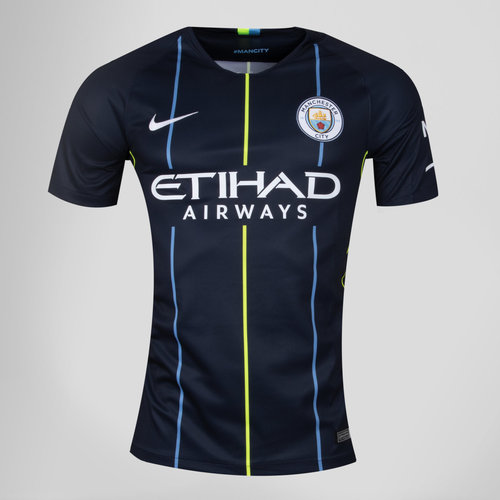 Manchester City 18/19 Away Kids S/S Replica Football Shirt