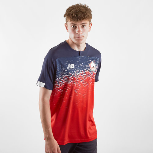 factory authentic a9341 83754 New Balance Lille OSC 19/20 Home S/S Replica Football Shirt ...