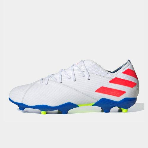 dc6a69f5f adidas Nemeziz Messi 19.1 Junior FG Football Boots. White/Red/Blue