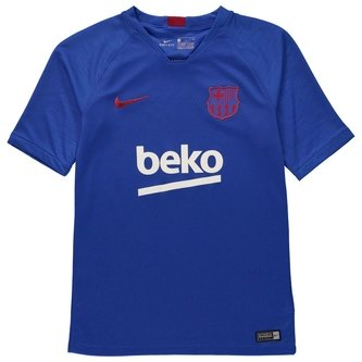 FC Barcelona 19/20 Breathe Strike Kids Top