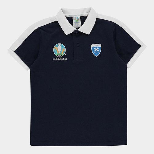 Euro 2020 Scotland Polo Shirt Junior Boys