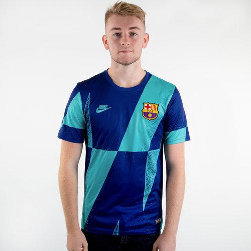 FC Barcelona 19/20 Pre Match S/S Football Training Shirt