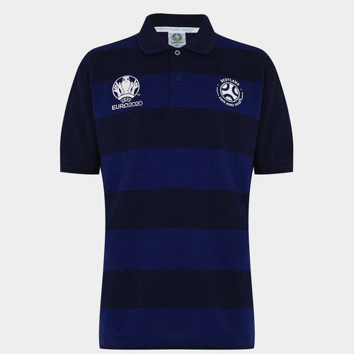Euro 2020 Scotland Stripe Polo Mens