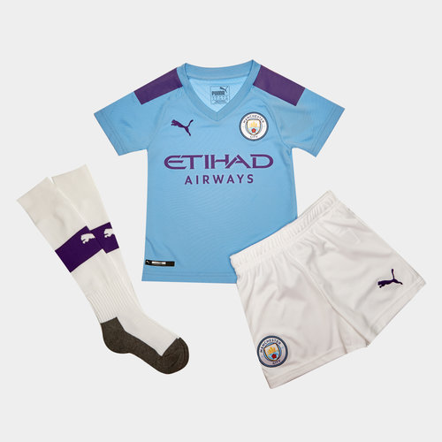 Manchester City 19/20 Mini Kids Home Football Kit