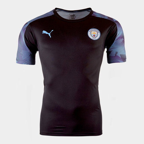 Puma Manchester City 19/20 Players S/S Kids Football Training Shirt