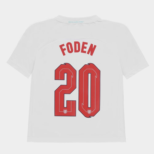 England Euro 2020 Polyester T Shirt with Printed Name Junior