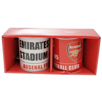 Arsenal Twin Mug Set