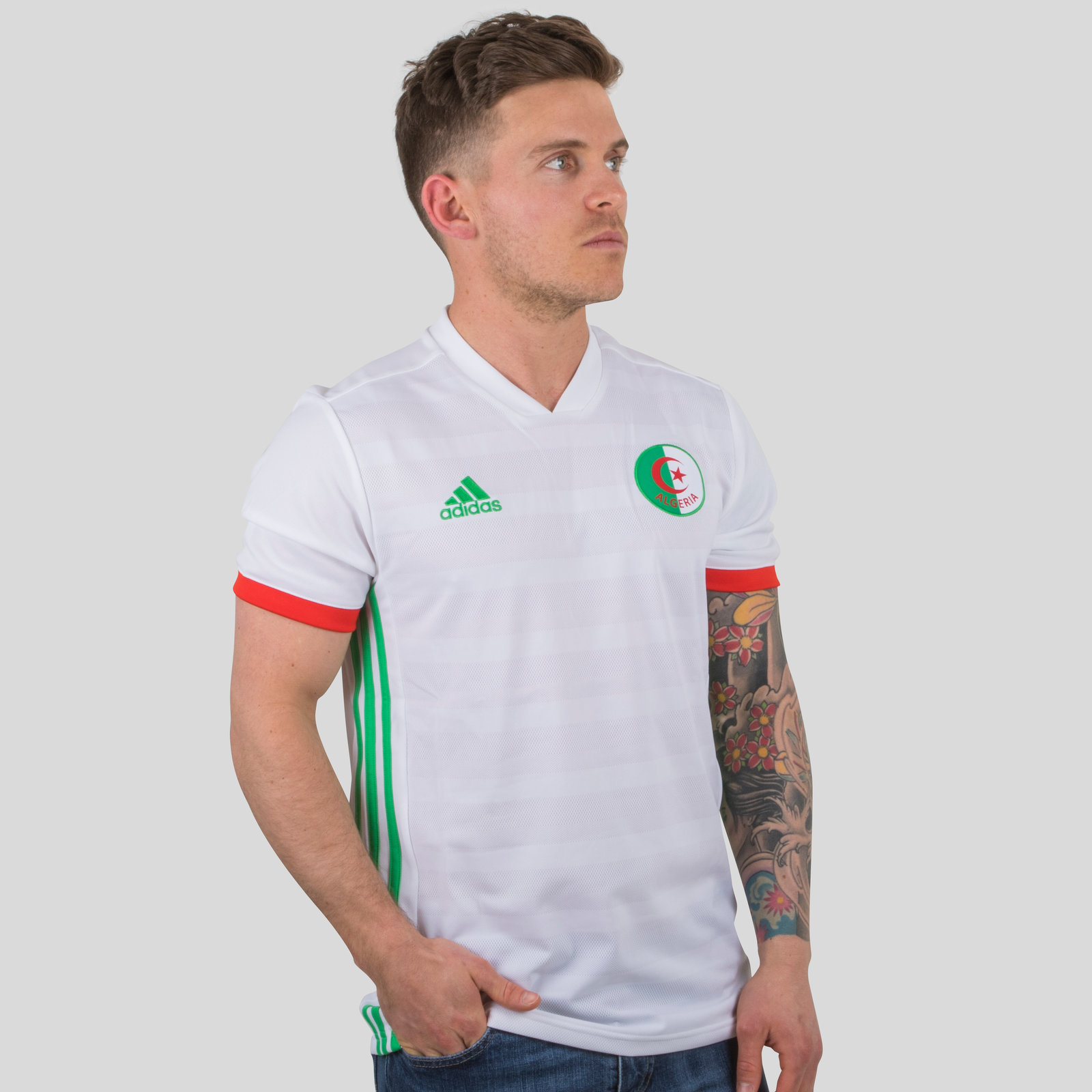Algeria 2018 Home short sleeve Replica Football Shirt