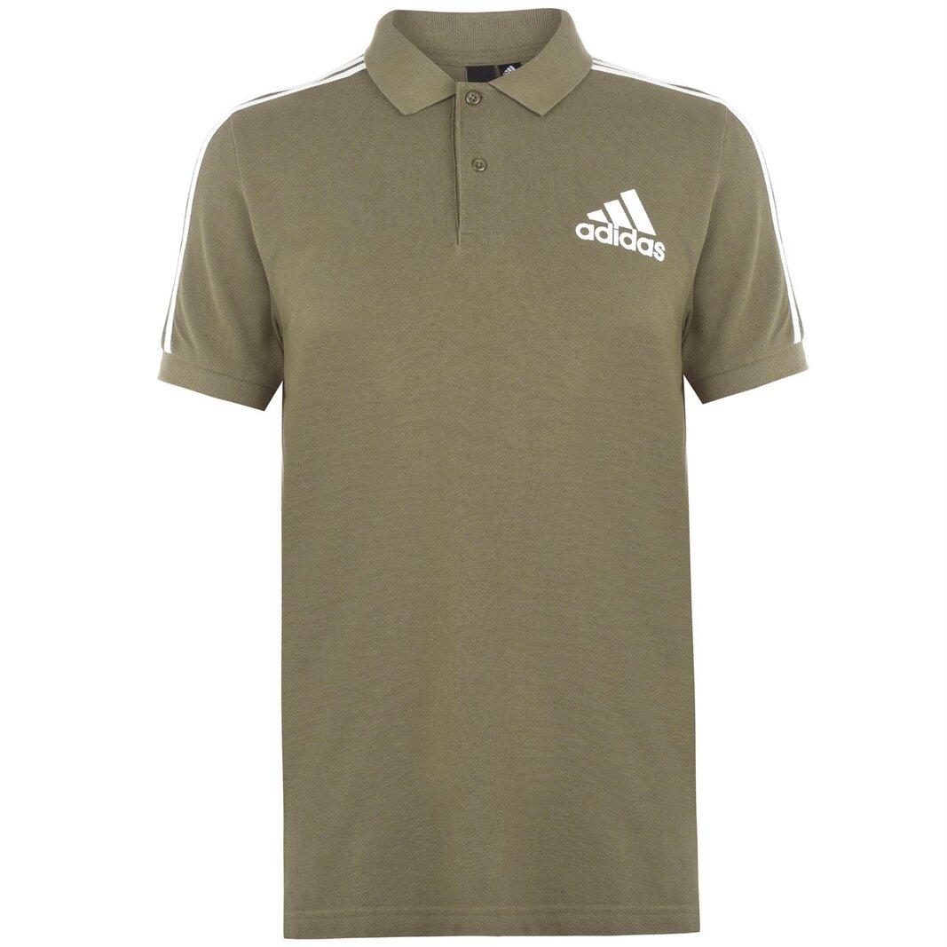 Mens Cotton 3 Stripes Polo Shirt