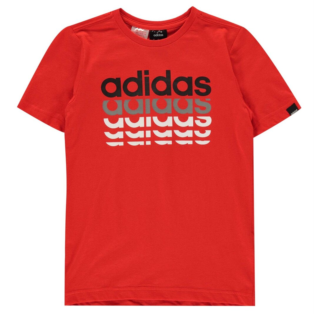 Repeat Linear QT T Shirt Junior Boys