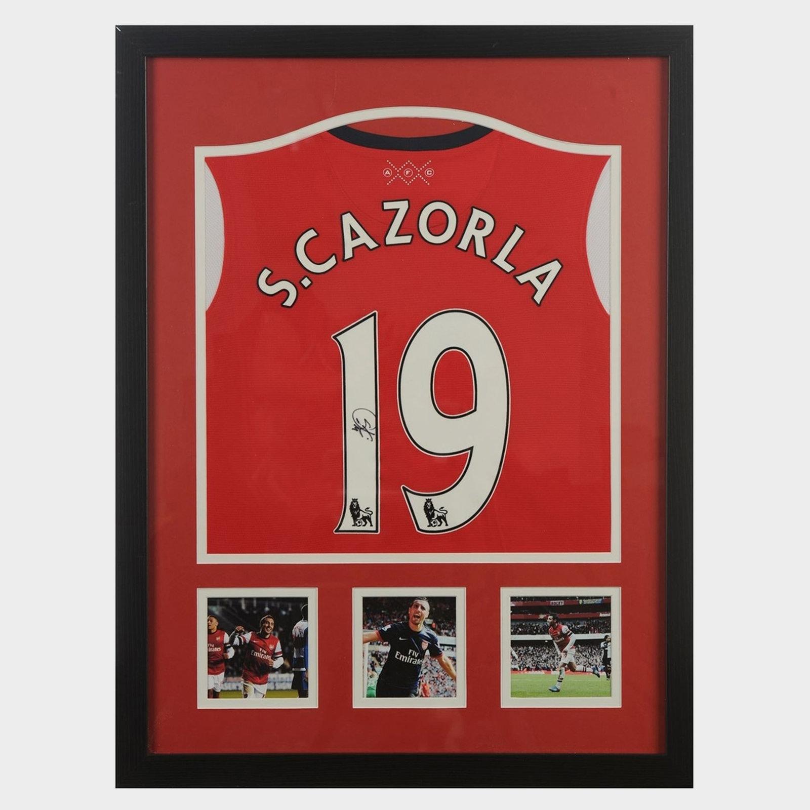 Santi Cazorla Signed Arsenal Shirt