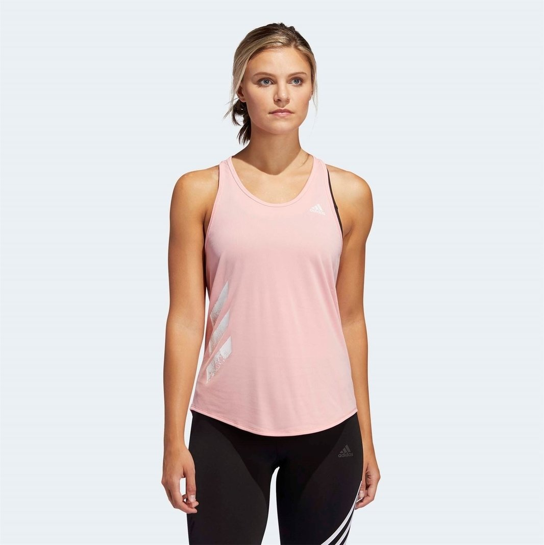 Womens Run It 3 Stripes Tank Top