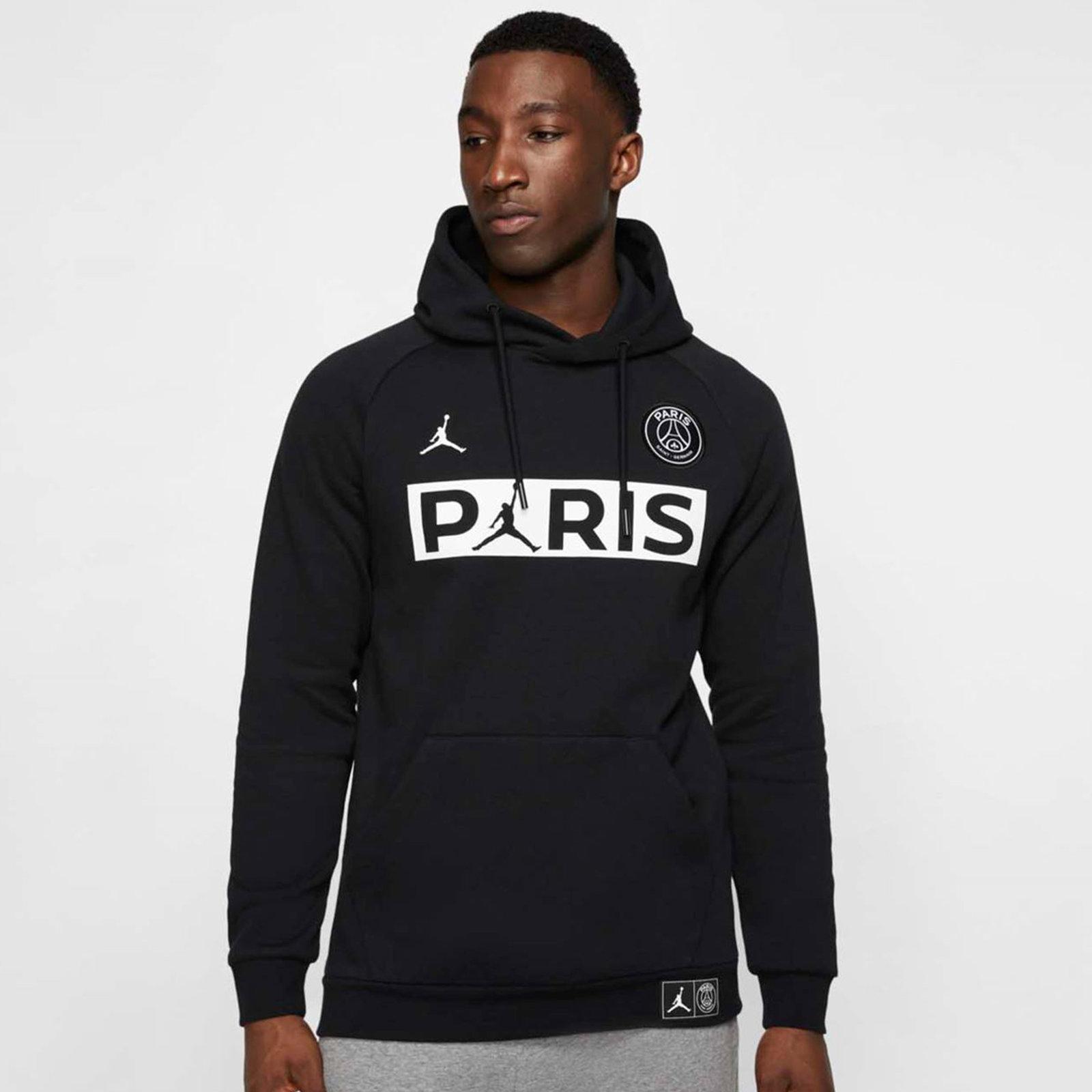 corona rasguño combate  Nike Paris Saint-Germain Fleece Pullover Hoodie - Black | BQ8350-010 |  FOOTY.COM