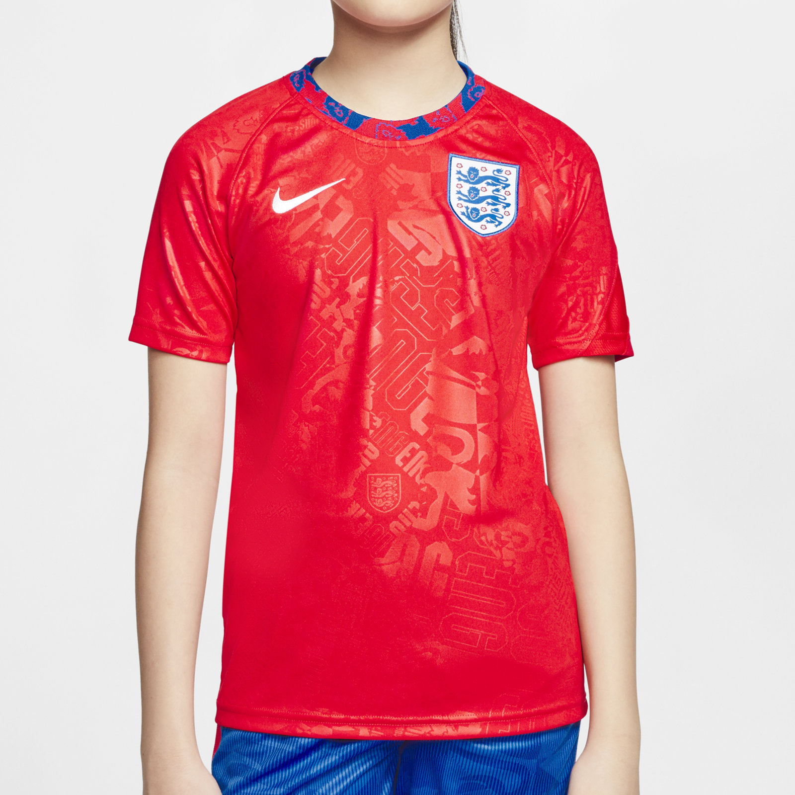 England 2020 Kids Pre Match Football Shirt