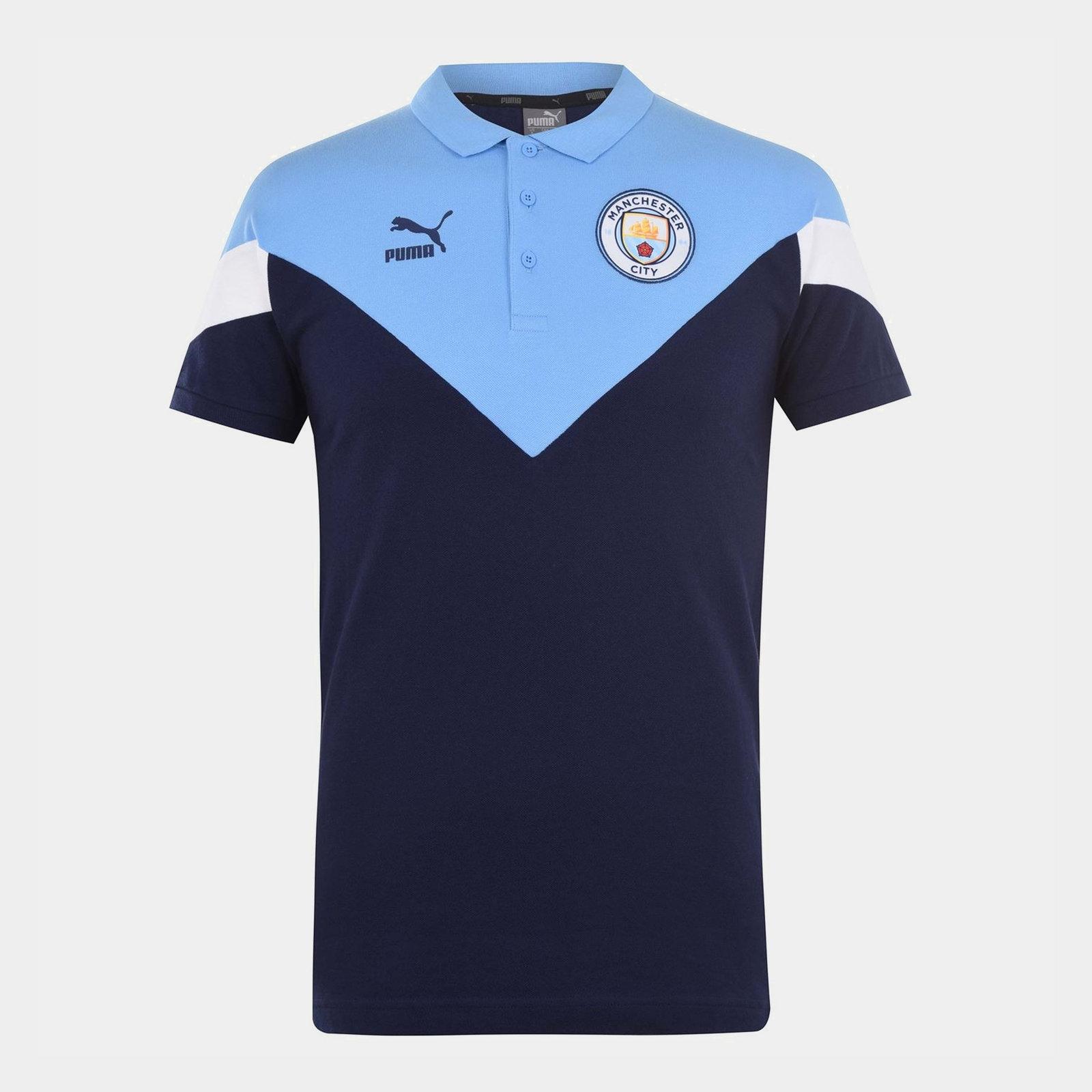 Manchester City FC Polo Shirt Mens
