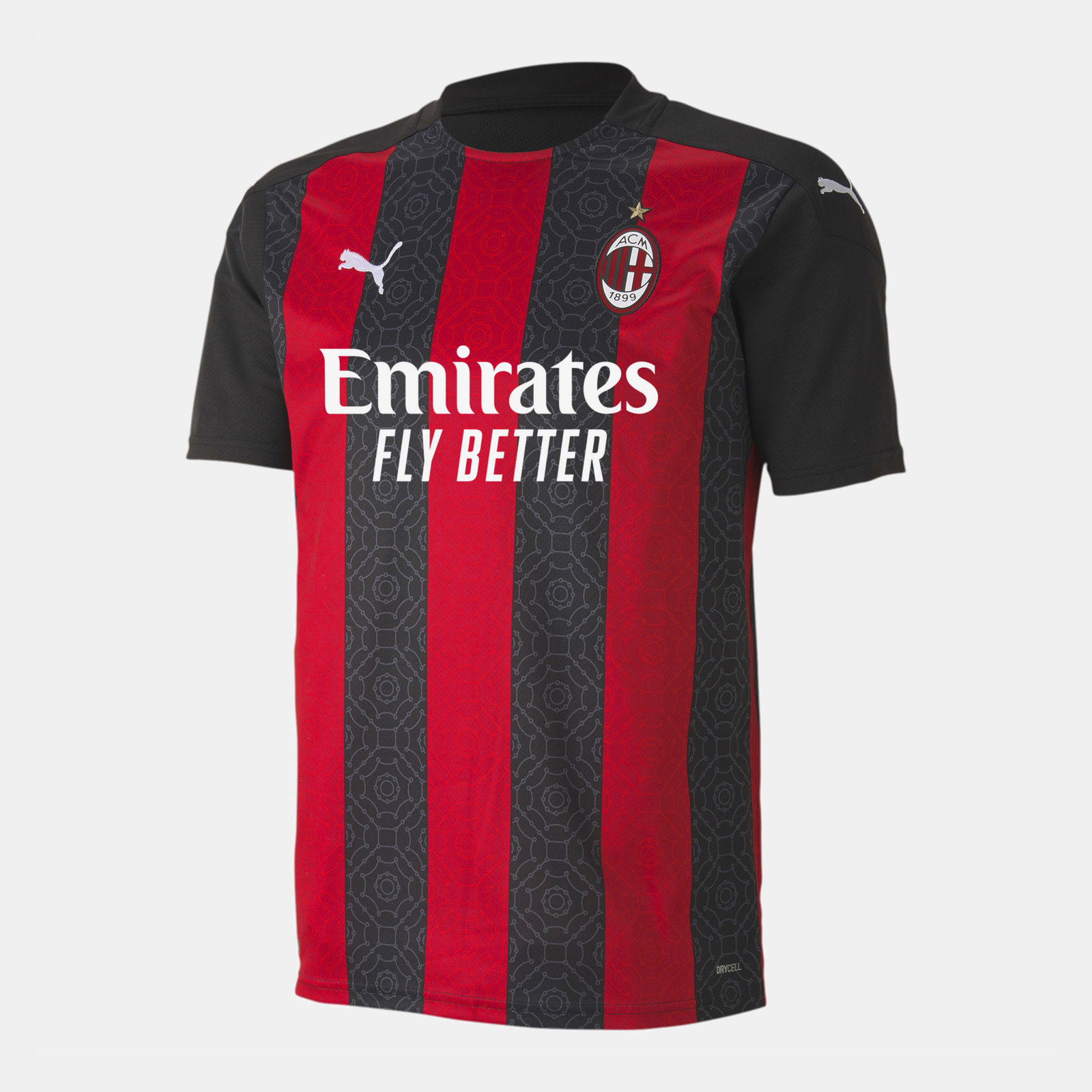 AC Milan Home Shirt 20/21 Mens Puma Red/Black