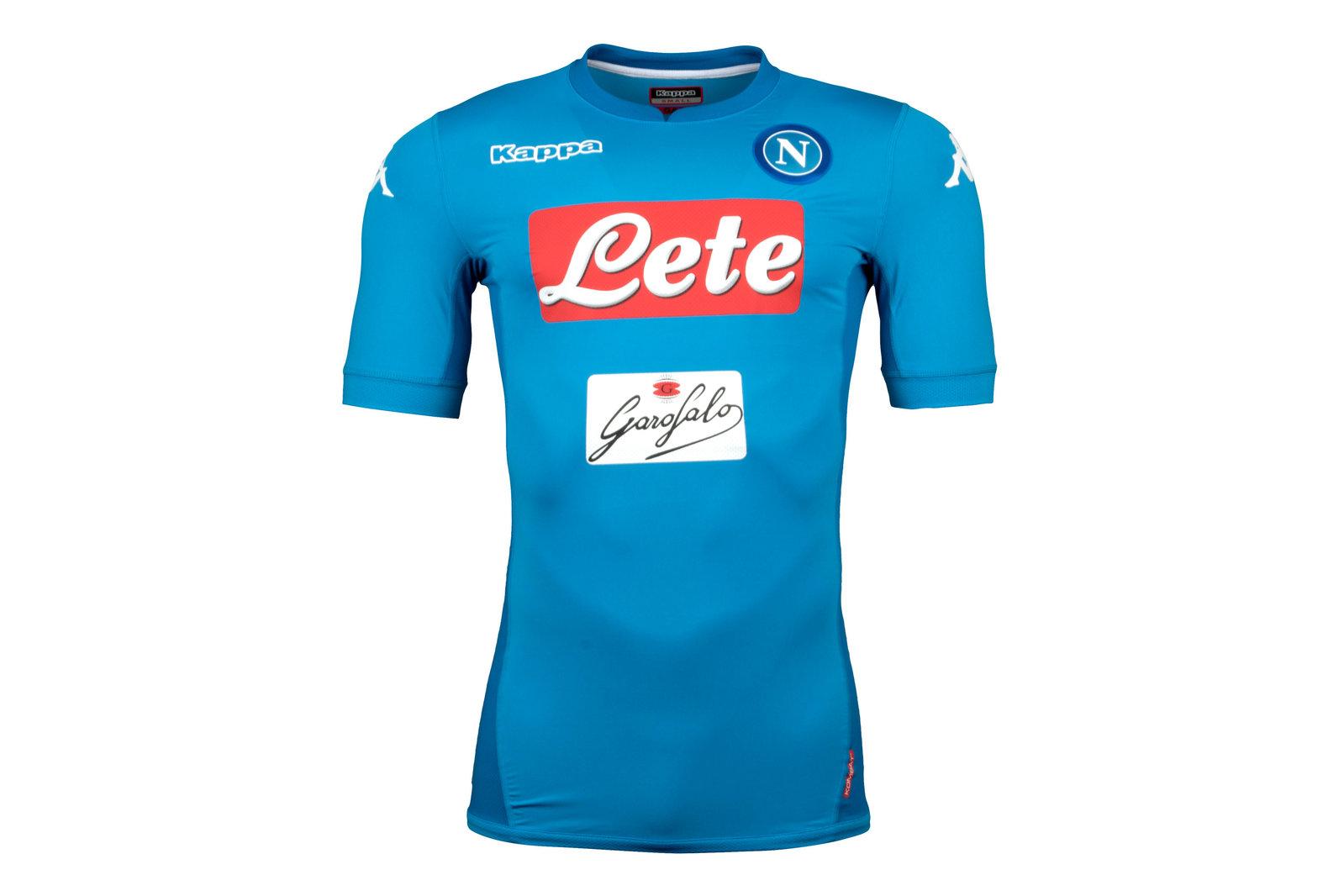 Napoli 17/18 Home short sleeve Players Match Football Shirt