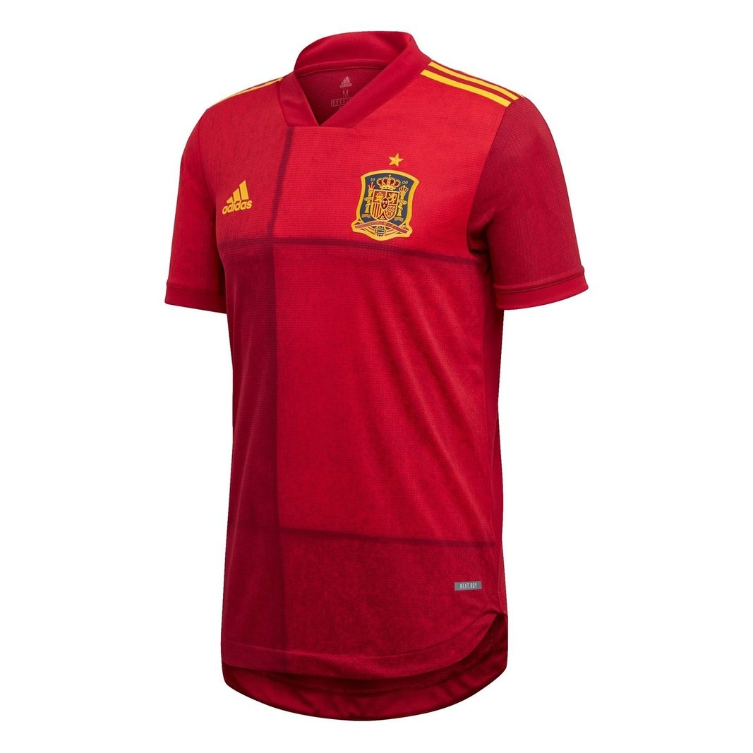 Spain 2020 Home Authentic short sleeve Football Shirt