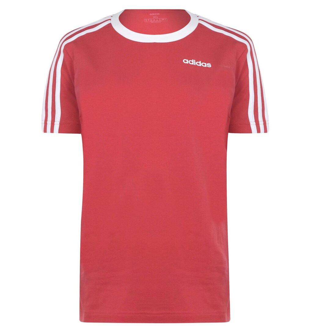 Essentials 3 Stripe T Shirt Ladies