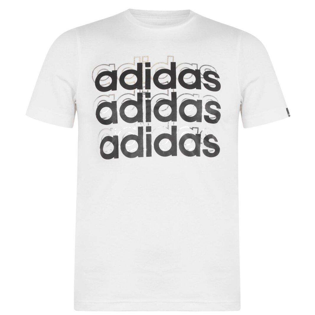 Foil Repeat T Shirt Junior Boys