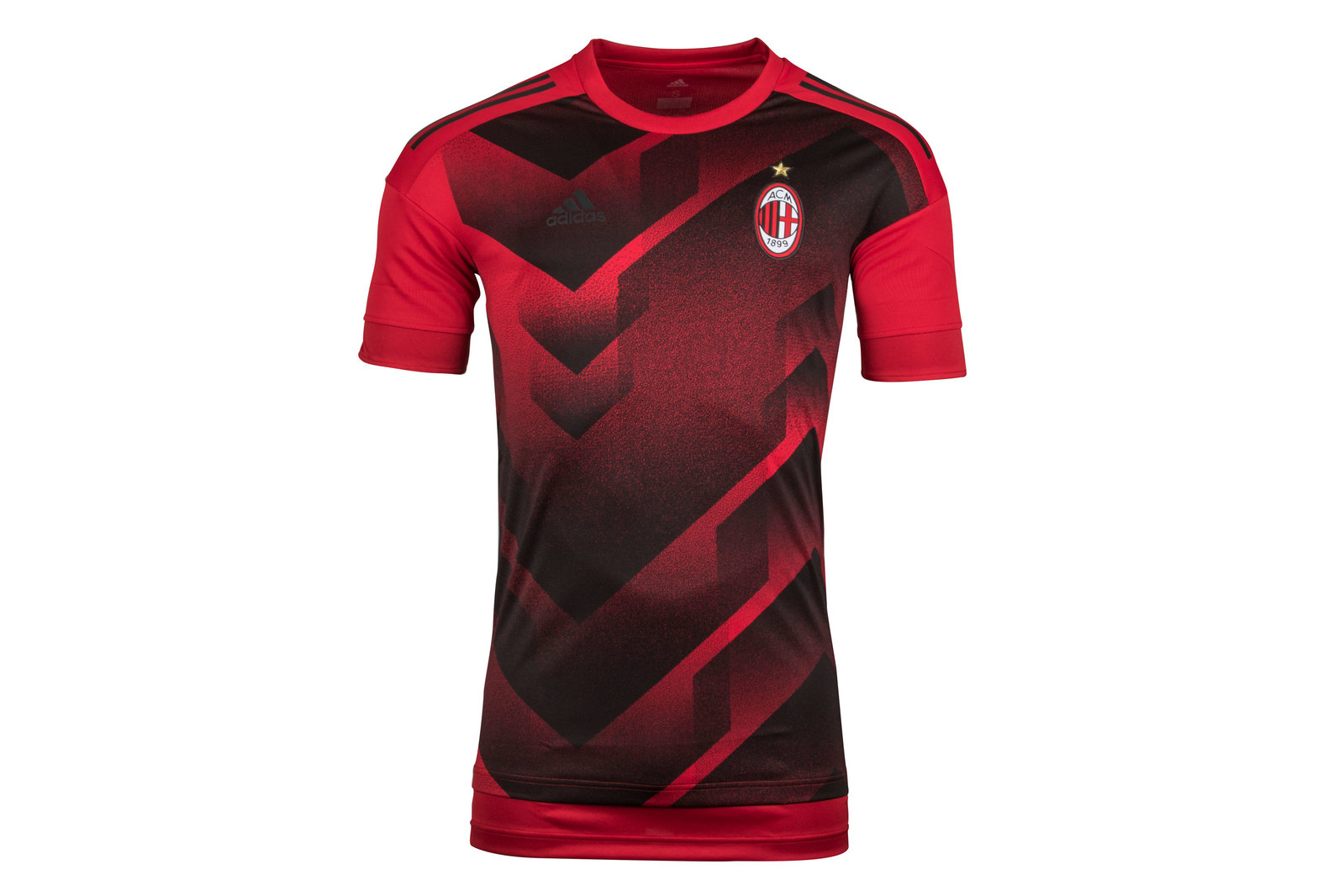 Image of AC Milan 17/18 Pre-Match Football Training Shirt
