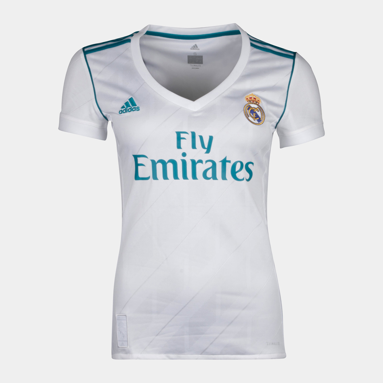Real Madrid 17/18 Ladies Home short sleeve Replica Football Shirt