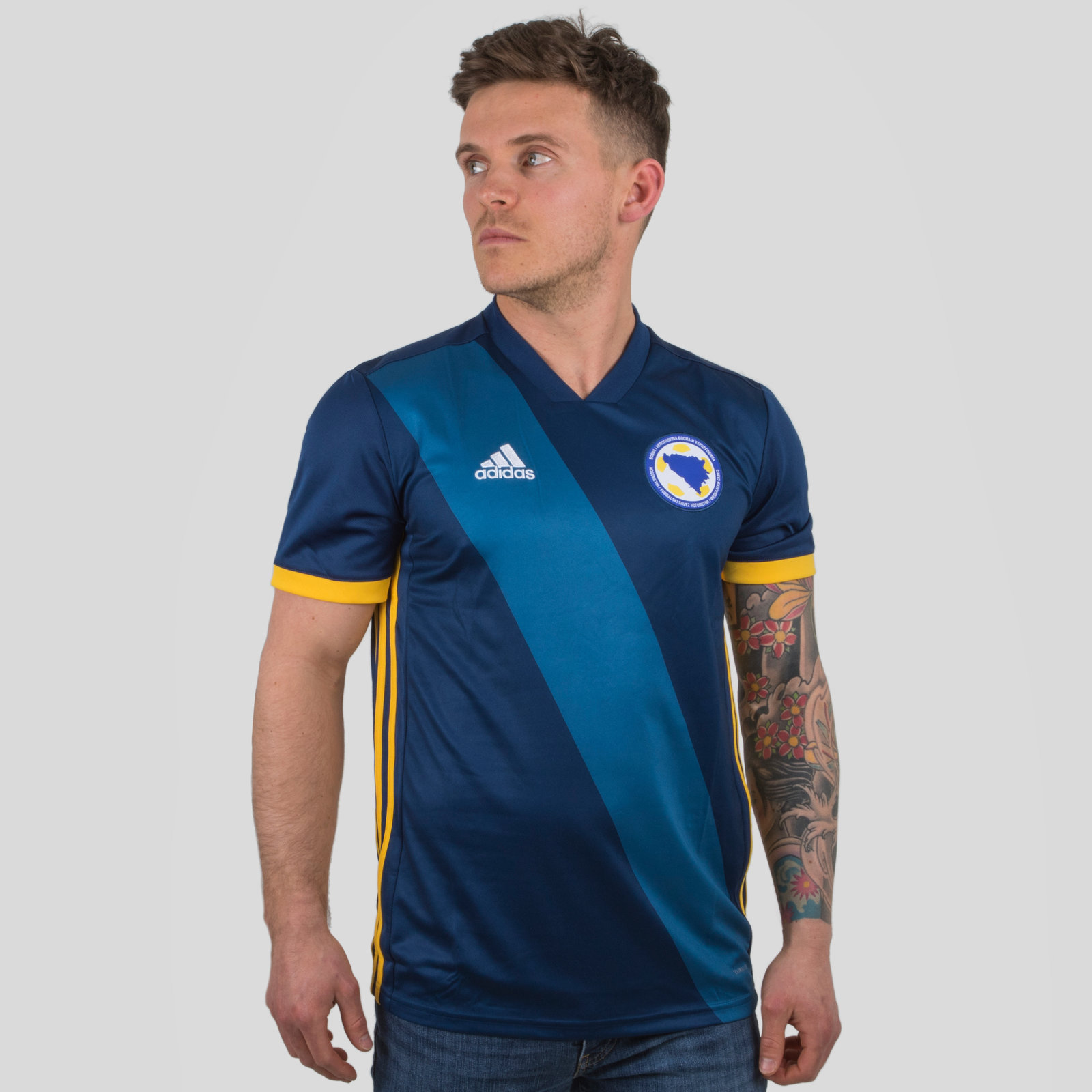 Bosnia & Herzegovina 2018 Home short sleeve Replica Football Shirt