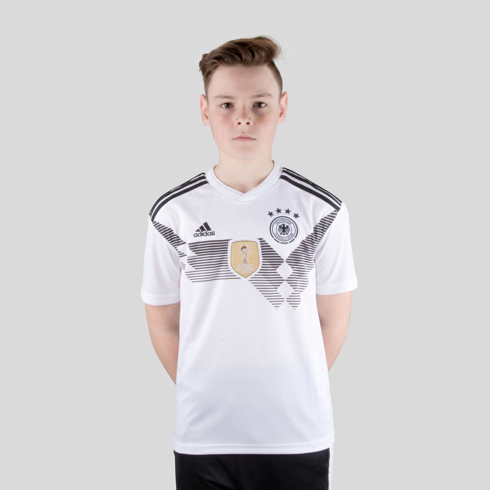 Germany 2018 Home Kids short sleeve Replica Football Shirt