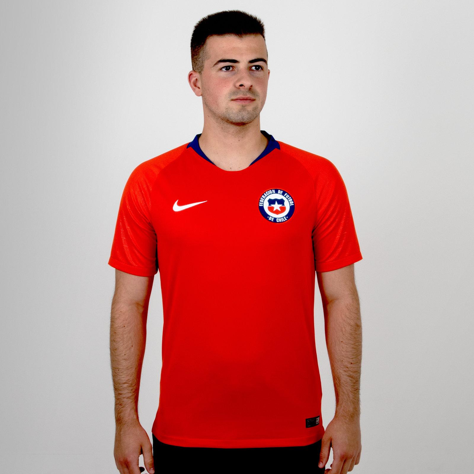 Chile 2018 Home short sleeve Stadium Football Shirt