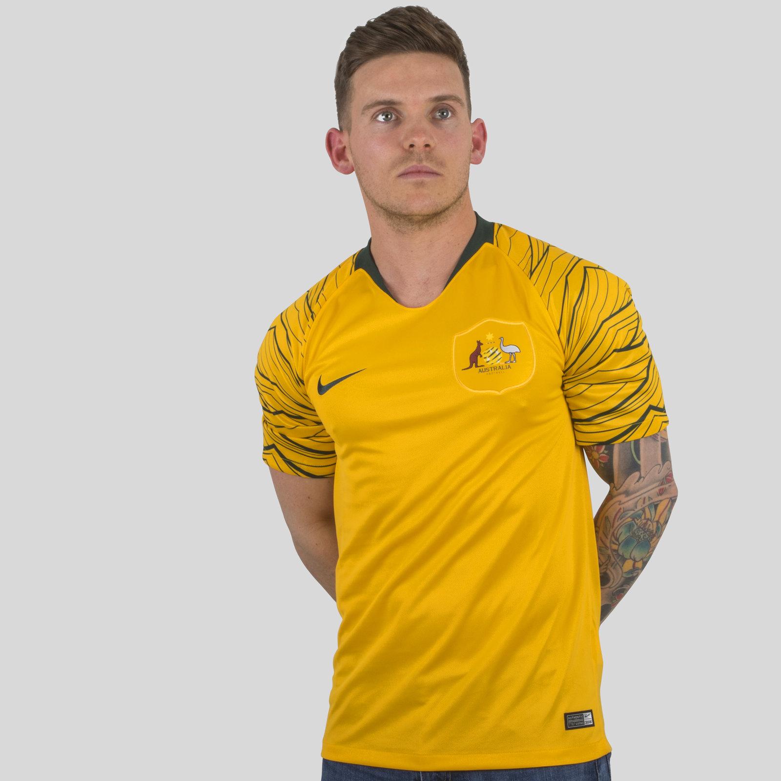 Australia 2018 Home short sleeve Stadium Football Shirt