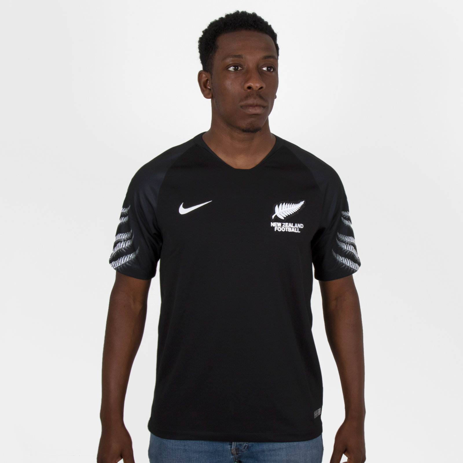 New Zealand 2018 Away short sleeve Stadium Football Shirt