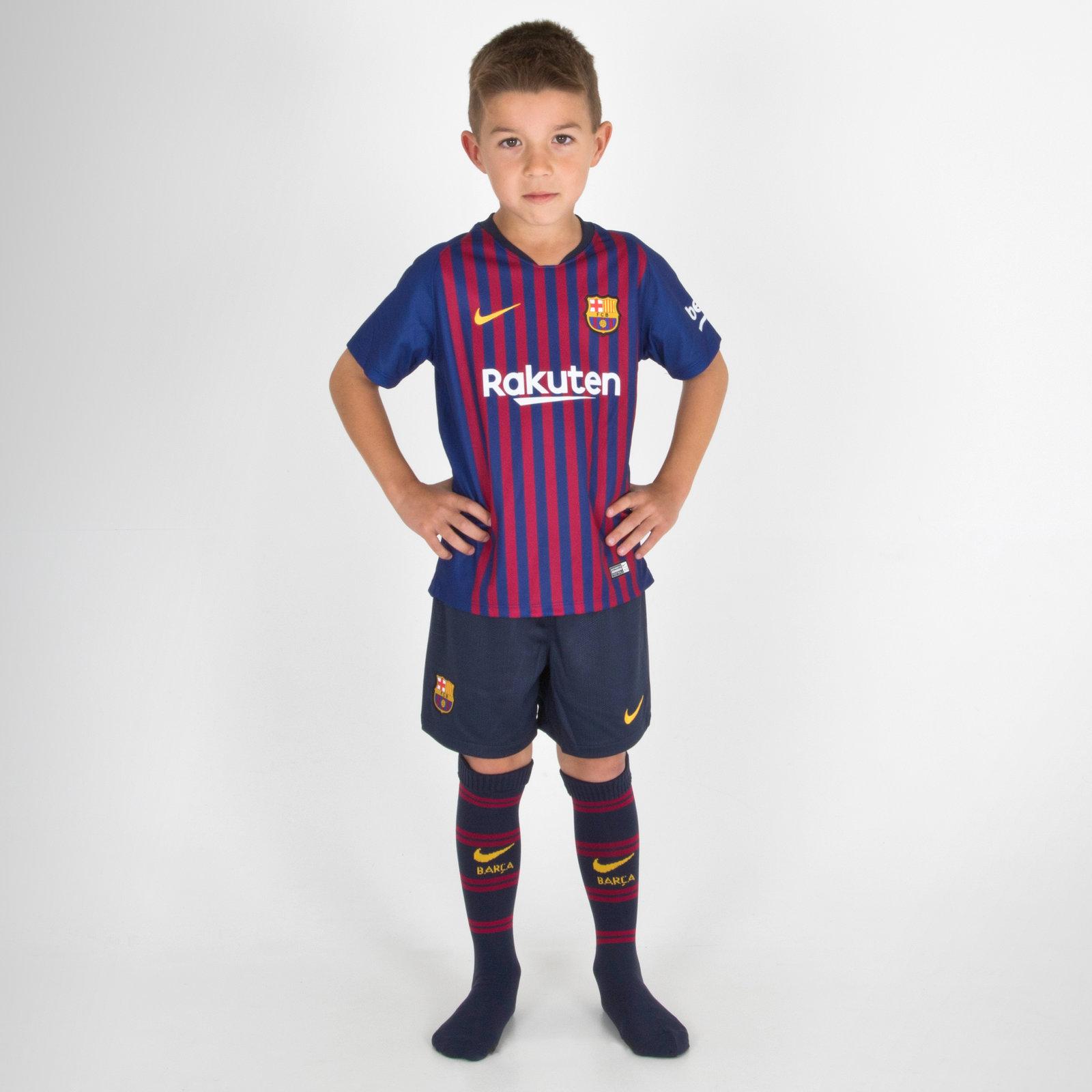 Image of FC Barcelona 18/19 Home Little Kids Football Kit