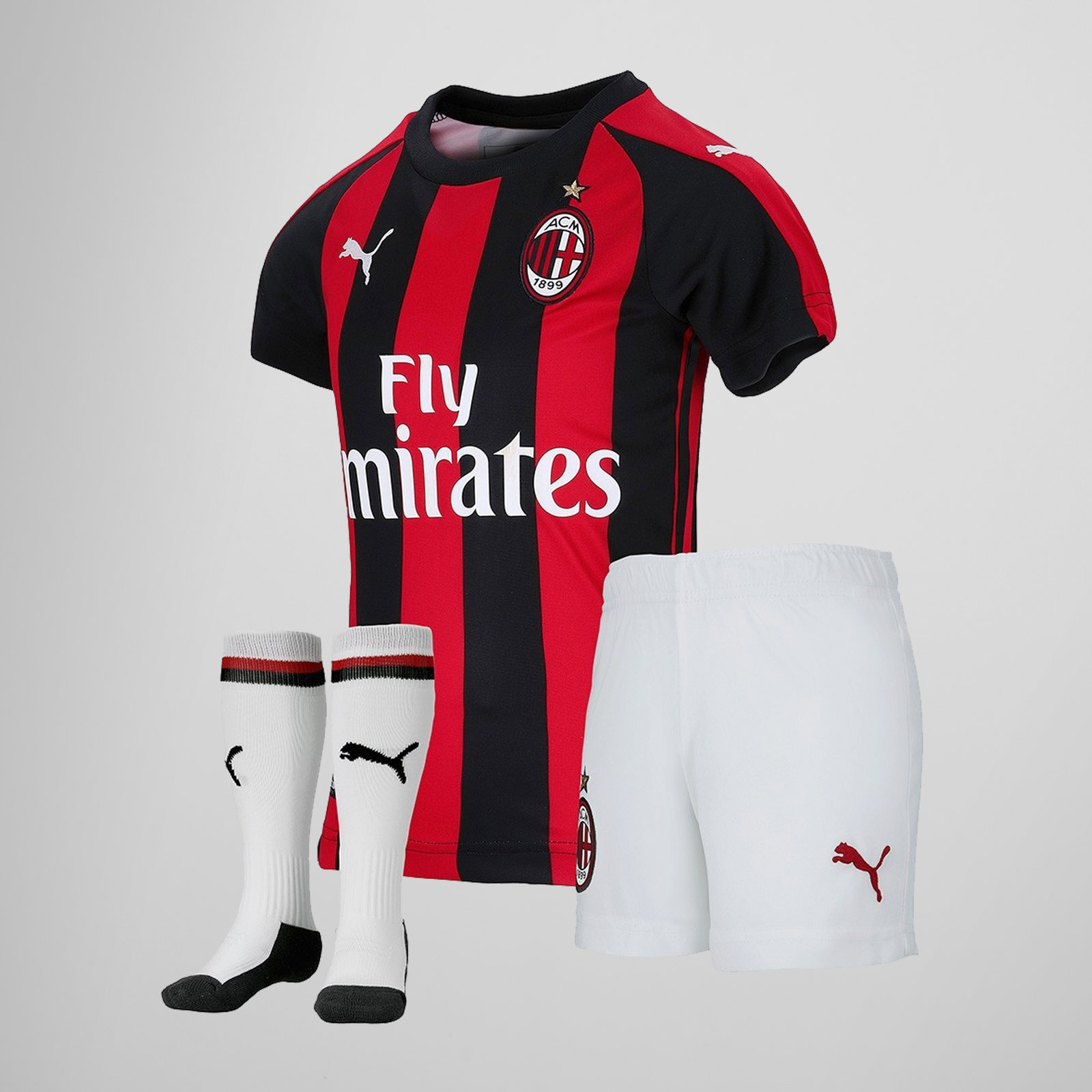 Image of AC Milan 18/19 Home Mini Kids Football Kit