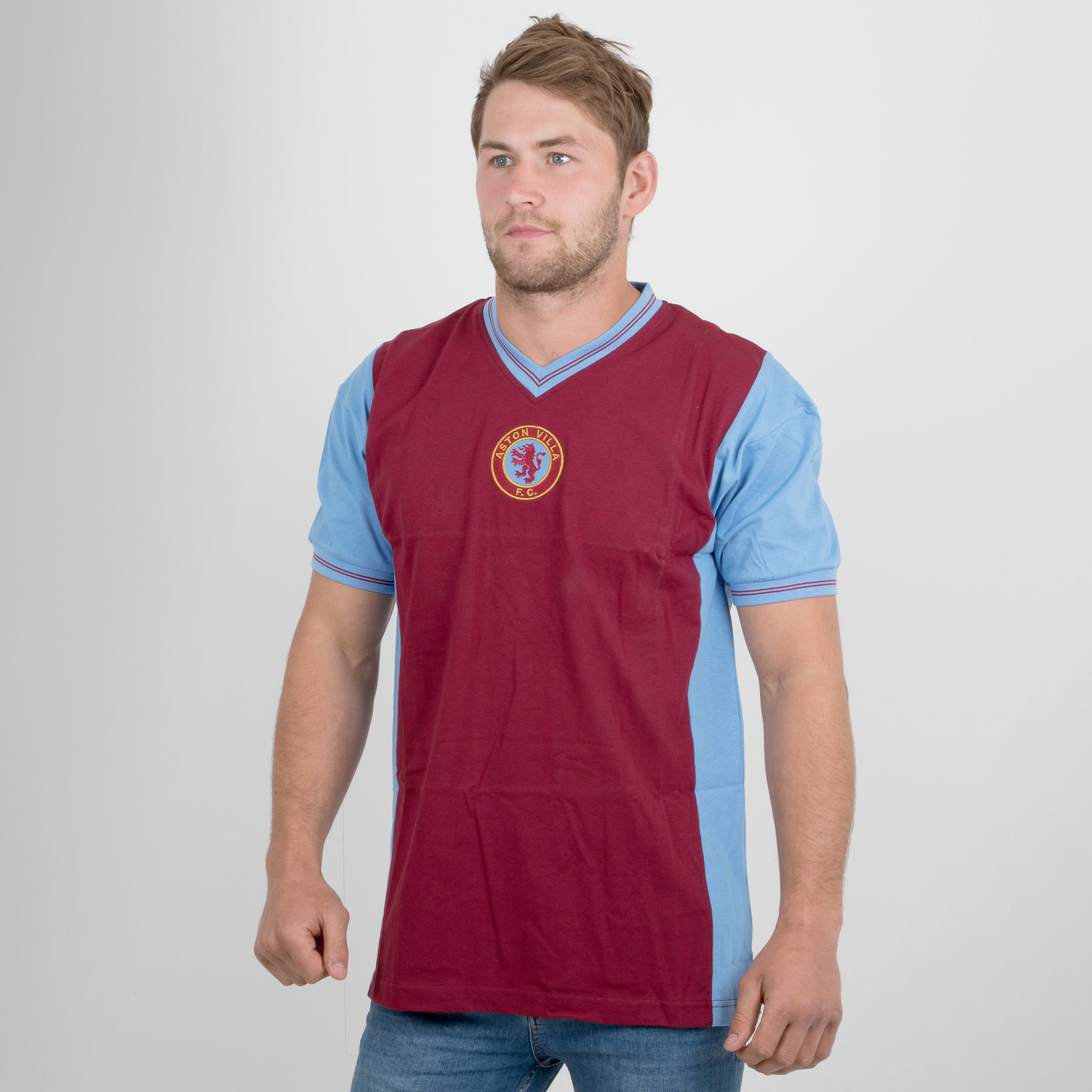 Aston Villa 1982 Retro Home short sleeve Football Shirt