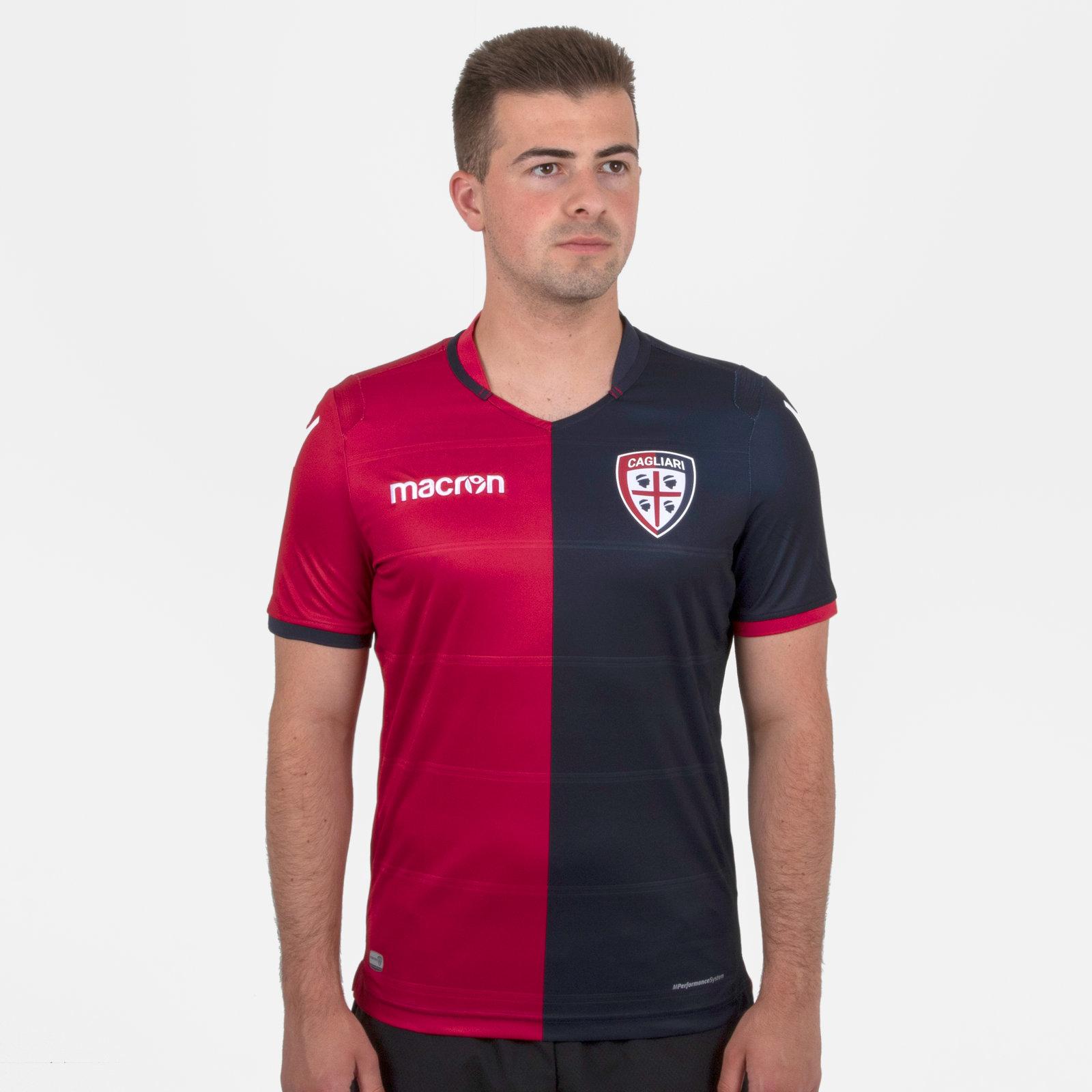 Cagliari Calcio 18/19 Home short sleeve Football Shirt