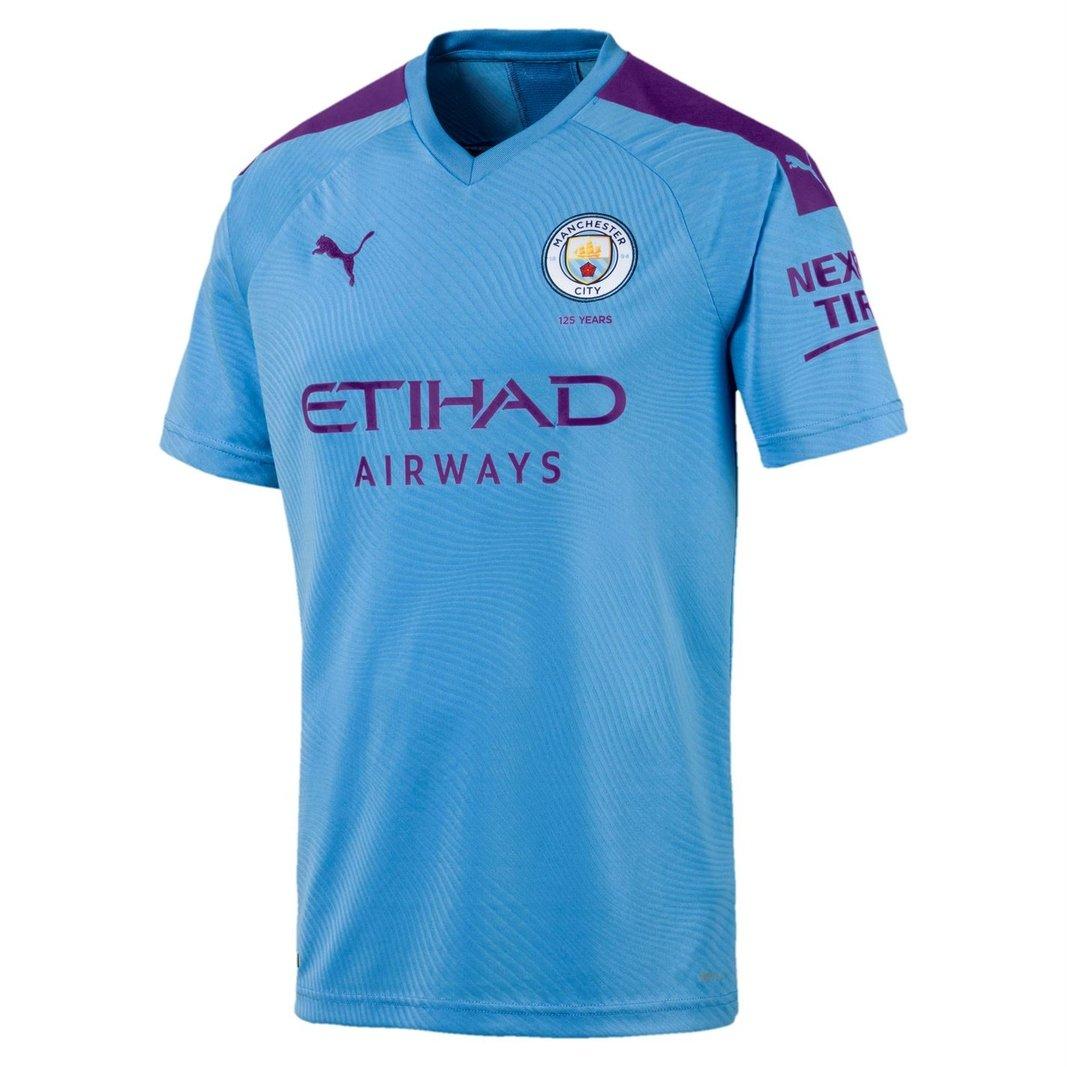 Manchester City 19/20 Home short sleeve Replica Football Shirt