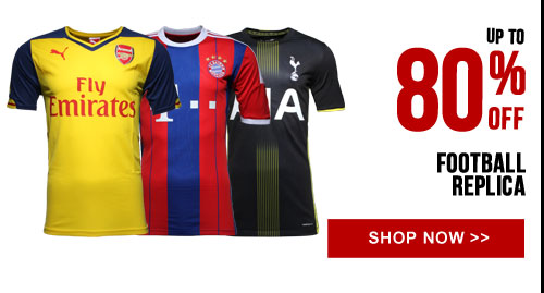 Up to 80% off Football Replica