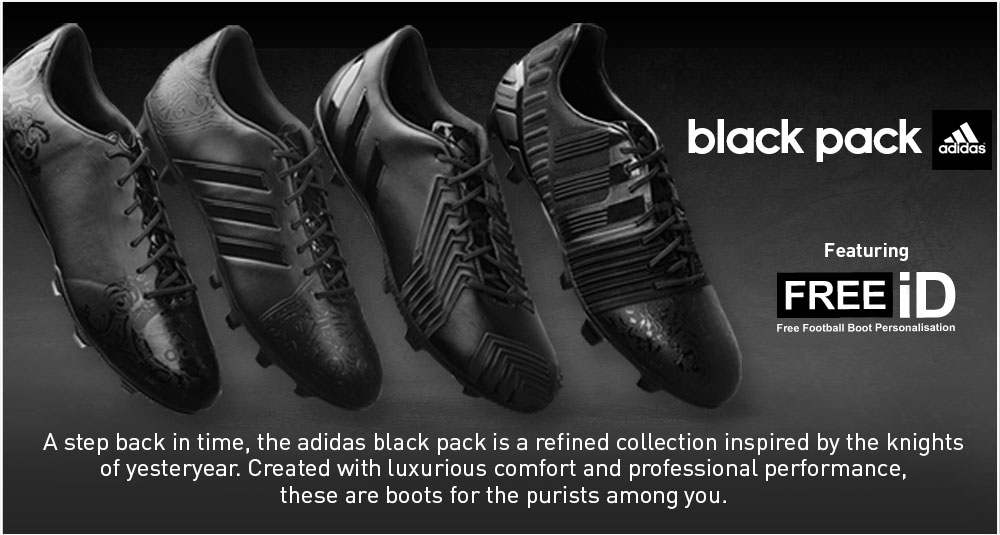 adidas black pack featuring FREE iD
