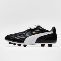 Puma King Top Classic FG Football Boots Black/White/Gold