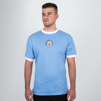 Score Draw Manchester City 1972 Home Retro Football Shirt