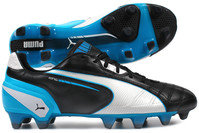 Puma King FG Football Boots Black/White/Blue
