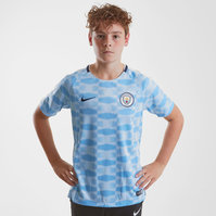 Nike Manchester City 17/18 Kids Dry Squad GX1 Football Top