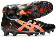 Asics Gel Lethal Tigreor 7 K IT FG Rugby Boots Black/Neon Orange/Silver