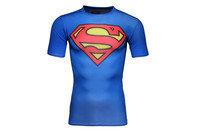 Superman Logo Compression S/S Kids T-Shirt Royal/Red
